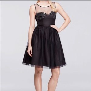 Truly Zac Posen Black Sleeveless Tulle Dress